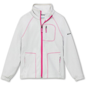 Columbia Fast Trek II Veste zippée Adolescents, silver grey/pink ice